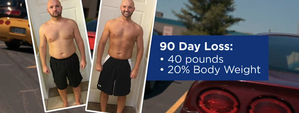 Eric Poland - 90 day weight loss before after image - lost 40 pounds