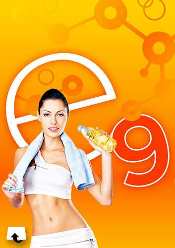 nutrition - e9 energy drink offered by an attractive fitness girl